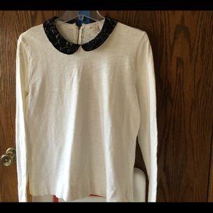 J crew lace colored shirt size medium